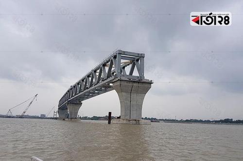 Twenty two percent of Padma bridge visible