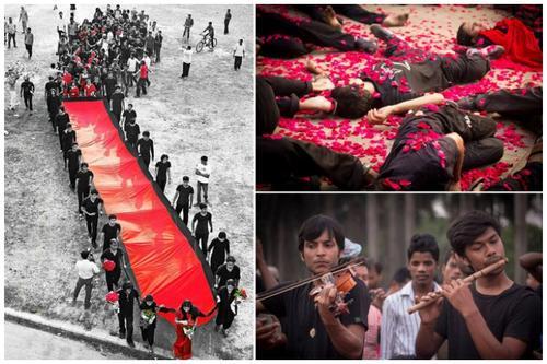 ২৫ মার্চের কালরাত স্মরণে প্রাচ্যনাটের 'লালযাত্রা'