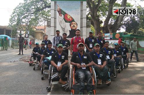 ভারত গেল বাংলাদেশ হুইল চেয়ার ক্রিকেট দল