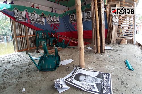 খুলনায় স্বতন্ত্র প্রার্থীর নির্বাচনী কার্যালয় ভাঙচুর
