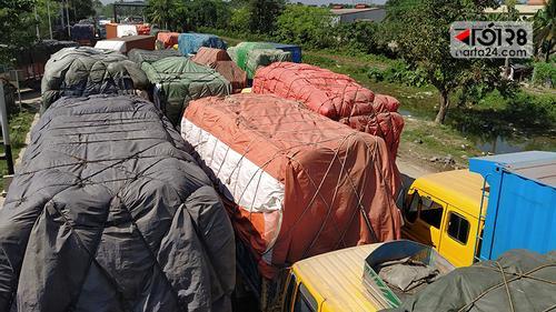 বেনাপোল বন্দর দিয়ে আমদানি-রফতানি বন্ধ