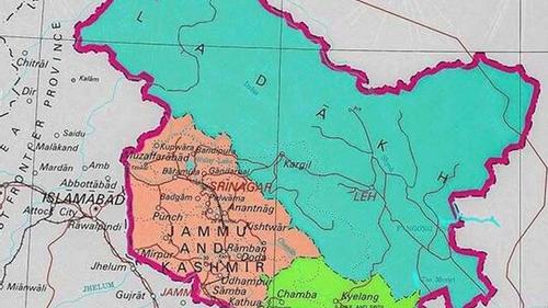 জম্মু কাশ্মীরের নতুন মানচিত্র, অন্তর্ভুক্ত পাকিস্তানের ভূখণ্ড