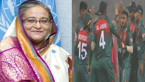 Sheikh Hasina congratulates Bangladesh Team for win over India