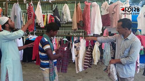হেমন্তেই জমে উঠেছে পুরাতন শীতবস্ত্রের বাজার