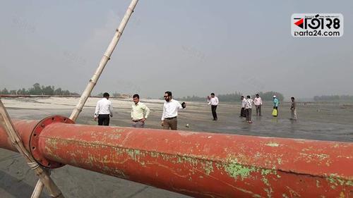 সলঙ্গায় অবৈধভাবে বালু উত্তোলন, আড়াই লাখ টাকা জরিমানা