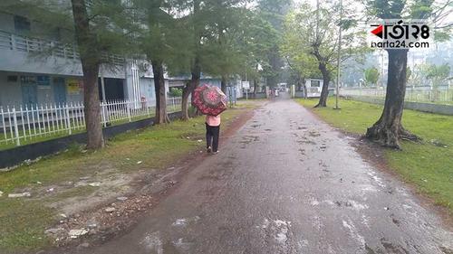 ঘূর্ণিঝড় 'বুলবুল' এর প্রভাবে পটুয়াখালীতে বৃষ্টি