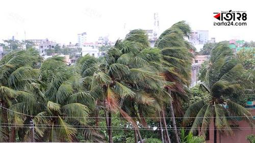 Stormy wind is blowing over Satkhira