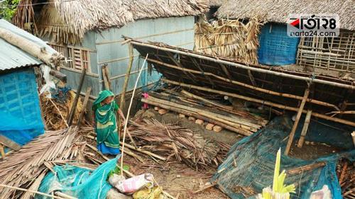 Bulbul-hit people returning homes devastated