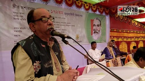 মীর মশাররফ আমৃত্যু বাংলা ভাষায় সাহিত্যের সেবা করে গেছেন