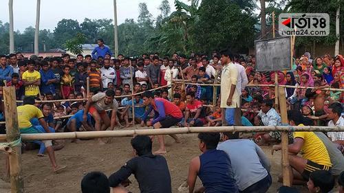 গাইবান্ধায় ঐতিহ্যবাহী হাডুডু খেলা