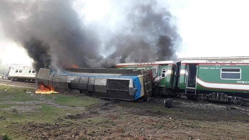 Rangpur Express catches fire after derailment