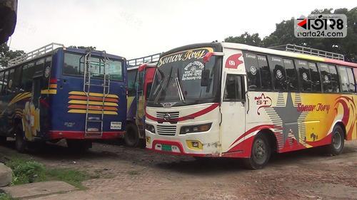 নতুন সড়ক আইনের প্রতিবাদে চুয়াডাঙ্গায়ও ধর্মঘট