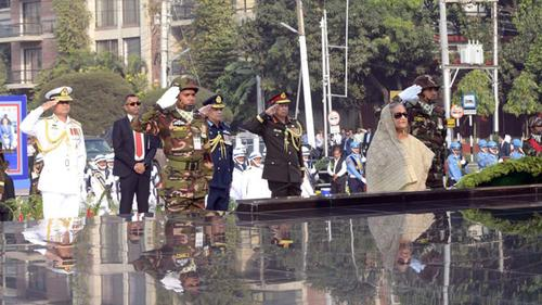 President, PM pay tribute to martyrs at Shikha Anirban