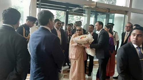 PM Sheikh Hasina reaches Kolkata to watch Pink Test