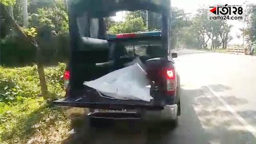 হবিগঞ্জে মালবাহী ট্রাক খাদে পড়ে হেলপার নিহত