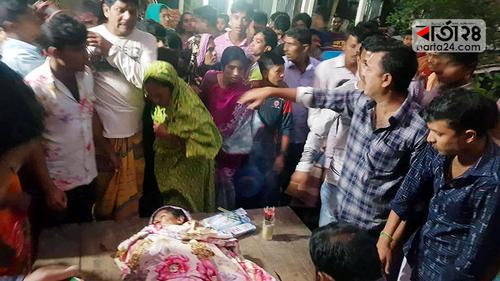 রাজবাড়ীতে ট্রেনে কাটা পড়ে গৃহবধূর মৃত্যু