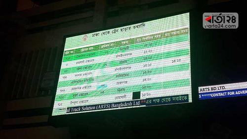Inadequate digital LED screen at Kamalapur Railway station