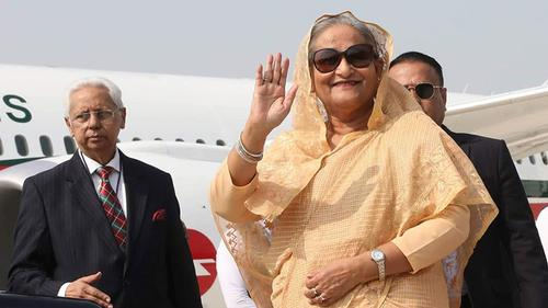 PM Hasina reaches Delhi