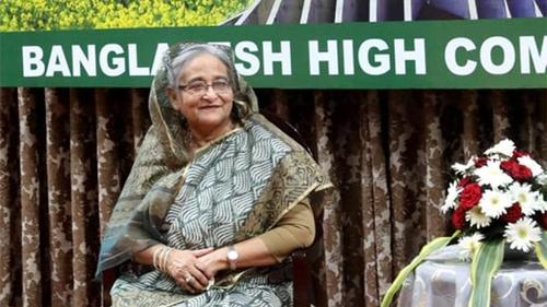 Reception to Premier Sheikh Hasina at Bangladesh Mission