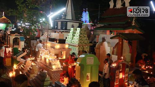 বরিশালে উপমহাদেশের সবচেয়ে বড় শ্মশান দিপালী উৎসব শুরু