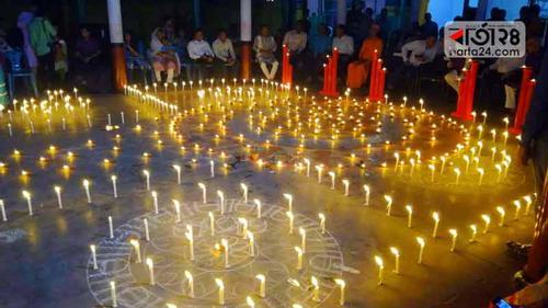 ময়মনসিংহে দীপাবলিতেহাজার প্রদীপ প্রজ্জ্বলন