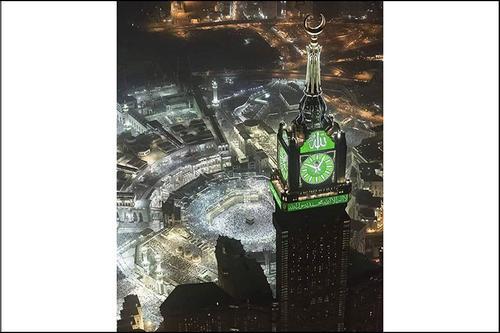 বিশ্বের সবচেয়ে বড় ঘড়ি 'মক্কা ক্লক' দশ বছর পূর্ণ করল