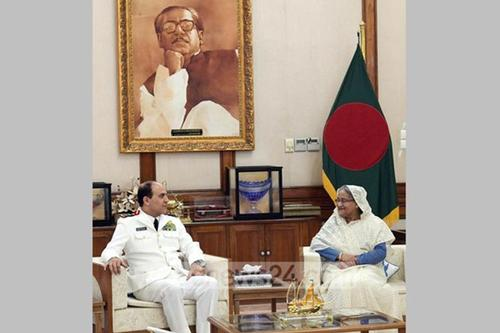 Saudi Naval chief admires PM Sheikh Hasina