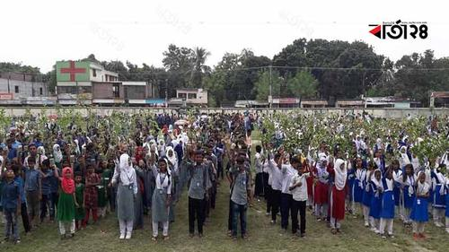 রাজশাহীতে টিফিনের টাকা বাঁচিয়ে ৫০ হাজার গাছ লাগাচ্ছে শিক্ষার্থীরা