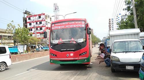ঢাকা-না.গঞ্জ রুটে বন্ধ বিআরটিসি বাস সার্ভিস