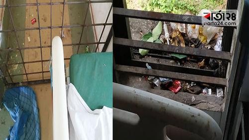 স্বাস্থ্য কমপ্লেক্সে যত্রতত্র ময়লা-আবর্জনা, ঝুঁকিতে রোগী