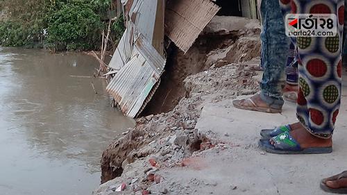 এবার জামালপুরে নদী ভাঙনে ব্যাপক ক্ষতি