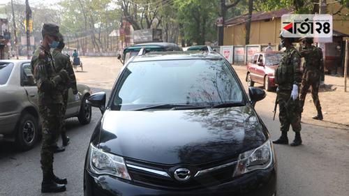 যানবাহন ও জনসমাগম নিয়ন্ত্রণে কঠোর অবস্থানে সেনাবাহিনী