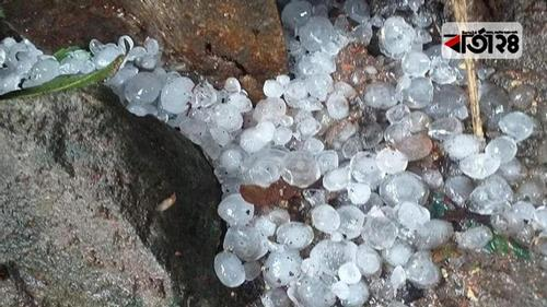 Gusty wind along with hailstorm may occur in the country