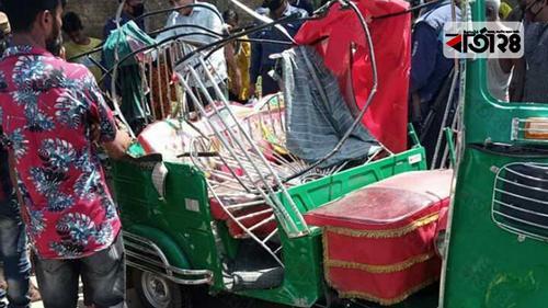 ময়মনসিংহে ট্রাক-অটোরিকশা সংঘর্ষে ২ পোশাক শ্রমিক নিহত