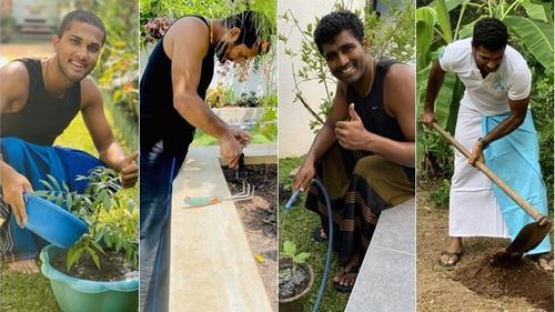 শ্রীলঙ্কান ক্রিকেটারদের 'বাড়িতে বাগান চ্যালেঞ্জ'