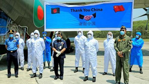 BAF aircraft brings necessary corona medical aids from China