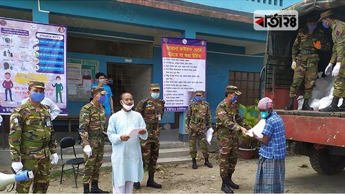 রংপুরে ৫০০ পরিবারকে সেনাবাহিনীর খাদ্য সহায়তা