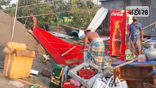 টাঙ্গাইলে কালবৈশাখী ঝড়, ঘরবাড়ি-বিদ্যুতের লাইন ক্ষতিগ্রস্ত