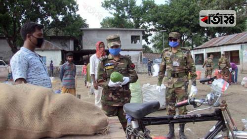 প্রান্তিক কৃষকদের সবজি-মশলা কিনে নিল সেনাবাহিনী