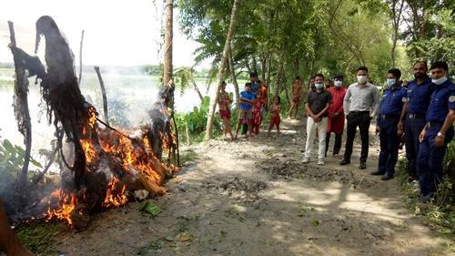 পটুয়াখালীতে অবৈধ জাল উদ্ধারে বিশেষ অভিযান