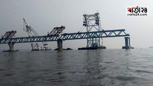 Padma bridge is now 6 km visible