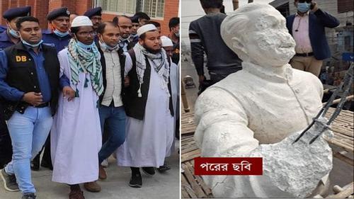 Bangabandhu's sculpture defacing in Kushtia: 164 of two Madrasa teachers