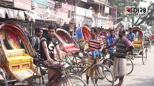 নগরীতে গণপরিবহন নেই, রিকশার দাপট