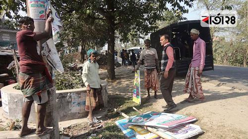 চাঁপাইনবাবগঞ্জ-রাজশাহী মহাসড়কে অবৈধ স্থাপনা উচ্ছেদ