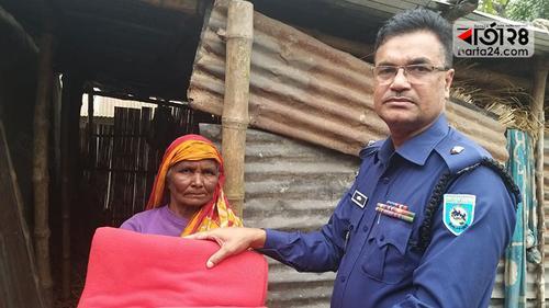 বৃদ্ধা লাখরাজির দায়িত্ব নিলেন এসপি বিপ্লব