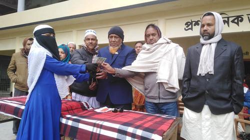 সলঙ্গায় ১১০ শিক্ষার্থীর মাঝে মেধা বৃত্তির টাকা প্রদান