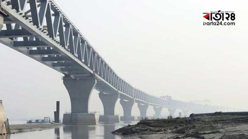 21st span of Padma multipurpose bridge is installed