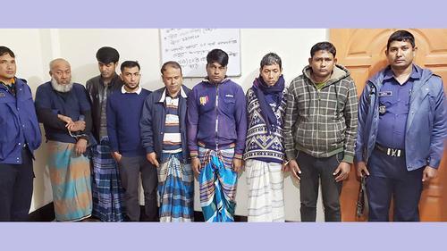 কুমিল্লায় জুয়া খেলায় সাতজনের কারাদণ্ড