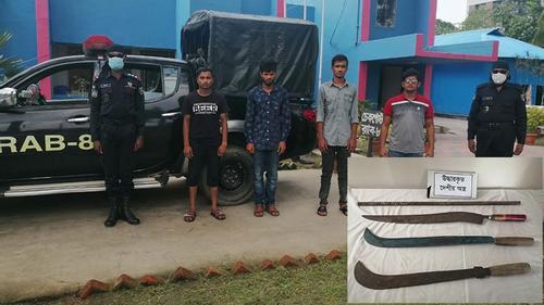 পটুয়াখালীতে কিশোর গ্যাং গ্রুপের চার সদস্য গ্রেফতার