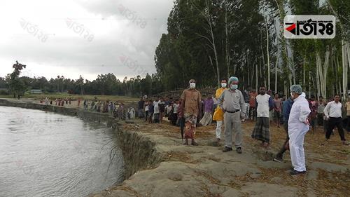 গাইবান্ধায় যমুনার ভাঙনে হুমকির মুখে ফসলি জমি-ঘরবাড়ি